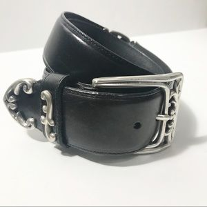 Brighton Chunky Look Black & Silver Boho Belt